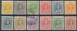 Montenegro 1907, N° 76/87, Prince Nicolas, SC, 3 Timbres Oblitérés, 20p (dents Courtes, Non Compté)