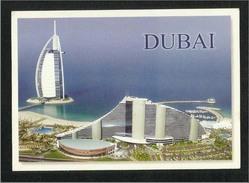 United Arab Emirates UAE Dubai Picture Postcard Burj Al Arab & Jumeirah Beach Hotel View Card - Dubai