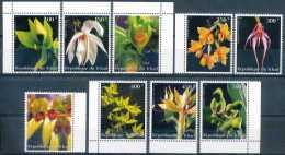 Tchad 1999 - Série Complète Les 9 Valeurs, Fleurs, Orchidées
