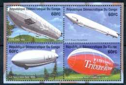 N° 2038/41 - Centenaire Du Zeppelin - En Bloc De 4