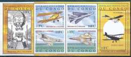 N° 2044/49 - Histoire De L'aviation - Avions, Montgoflière - Timbre Du Bloc Se Tenant