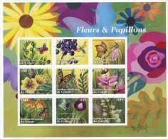 NN- BL199 - Fleurs, Insectes Et Papillons