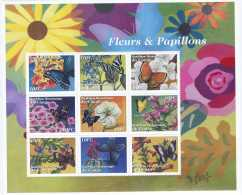 NN- BL200 - Fleurs, Insectes Et Papilons