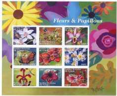 NN- BL201 - Fleurs, Insectes Et Papillons
