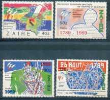 Zaire 1990 - Série Complete - Bicentenaire De La Revolution Française