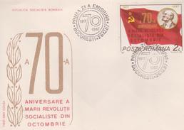 COVER LENIN-70th ANNIVERSARY OF GREAT October Socialist Revolution 1917-1987
