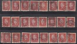 60pf X  25, Shades / Paper Varities,  'Deutsches Reich' Used 1928 Ebert Deutschland Germany