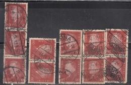 60pf  Pairs & Strips (Qty 14),  Shades / Paper Varities,  'Deutsches Reich' Used 1928 Ebert Deutschland Germany