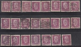 40pf X  23, Shades / Paper Varities,  'Deutsches Reich' Used 1928  Hindenburg Deutschland Germany