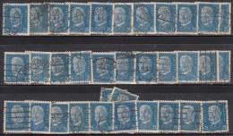 25pf X  35, Shades / Paper Varities,  'Deutsches Reich' Used 1928  Hindenburg Deutschland Germany