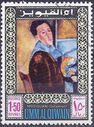 Umm Al-Qiwain 1967 - Self-portrait : Amadeo Modigliani ( Mi 204A - YT 70.7 ) - Umm Al-Qaiwain