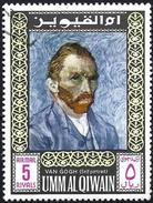 Umm Al-Qiwain 1967 - Self-portrait : Vincent Van Gogh ( Mi 209A - YT Pa 11.5 ) Airmail