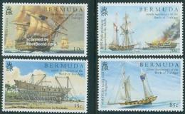 Bermuda 2005 Battle Of Trafalgar 4v, (Mint NH), Transport - Fire Fighters & Prevention - Ships & Boats - His..