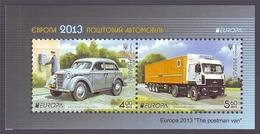 UKRAINE 2013. EUROPA CEPT. THE POSTMAN VAN / POSTAL CARS. Booklet Mi-Nr. 1334-35. Mint (**)