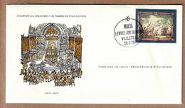 Malta FDC 1979  International Society Of Postmasters - Flemish Tapestries