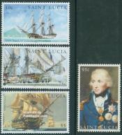 Saint Lucia 2005 Battle Of Trafalgar 4v, (Mint NH), Transport - Ships & Boats - History