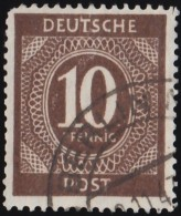 GERMANY - Scott #537 Nuemral (*) / Used Stamp - American,British And Russian Zone