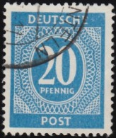GERMANY - Scott #543 Nuemral (*) / Used Stamp - American,British And Russian Zone