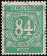 GERMANY - Scott #555 Nuemral (*) / Used Stamp - American,British And Russian Zone