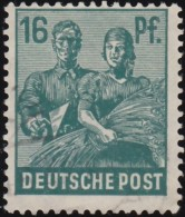 GERMANY - Scott #563 Reaping Wheat (*) / Used Stamp - American,British And Russian Zone