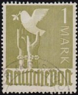 GERMANY - Scott #574 Germany Reaching For Peace (*) / Used Stamp - American,British And Russian Zone