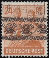 GERMANY - Scott #608 Reaping Wheat 'Overprinted' (*) / Used Stamp