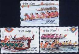 Vietnam 1999 Tradional Boat Races 3v, (Mint NH)