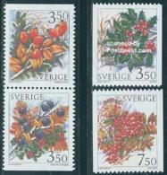 Sweden 1996 Fruits 2v+pair, (Mint NH), Nature - Fruit