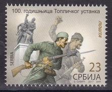 Serbia 2017 100th Anniversary Of Toplica Uprising, History, First World War, WW1, Rifle, Stamp MNH