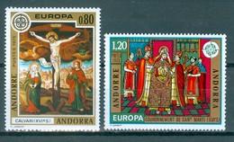 ANDORRA Französisch Komplettsatz Mi-Nr. 264 - 265 Europa: Gemälde Postfrisch