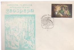 STAMPS CAVES COVER CAVES  GEOSPEPA -PHILATELIC EXHIBITION INTERJUDETEANA