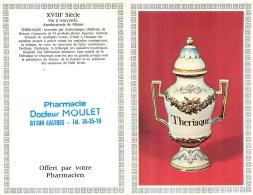 CALENDRIER PETIT FORMAT 1985  PHARMACIE MOULET A CASTRES THERIAQUE - Petit Format : 1981-90
