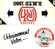 CALENDRIER PETIT FORMAT 1980 REGIE  MUNICIPALE DES TRANSPORTS URBAINS A CASTRES - Calendarios