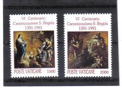 XAX101 VATICAN 1991  MICHL 1038//39 ** Postfrischer SATZ Siehe ABBILDUNG - Vatikan