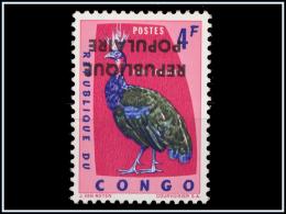 Congo République Populaire 11**  4Fr Rose  Surcharge Renversée -MNH -