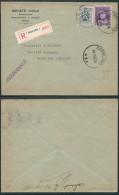 AK268 Lettre Recommandée Verreries De Charleroi1 à Fontaine 1931