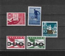 SURINAME 1963  Y.T.381-382 + 383-384 + 390  MNH/** 3 SERIES - Surinam