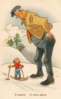 [DC9763] CPA - HUMOR - ILLUSTRATION - IL CAMPIONE DI SLALOM GIGANTE - Non Viaggiata - Old Postcard - Humor