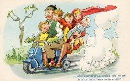 [DC9764] CPA - HUMOR - ILLUSTRATION - COSI' CONTINUANDO, AMICO MIO RIFLETTI UN ... - Non Viaggiata - Old Postcard - Humor