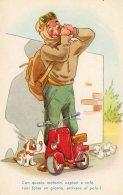 [DC9765] CPA - HUMOR - CON QUESTO MOTORIN, CAPISCI A VOLO VUOI FORSE UN GIORNO ARRIVARE ... Non Viaggiata - Old Postcard - Humor