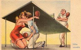 [DC9766] CPA - HUMOR - ILLUSTRATION - PALLINA INTROVABILE - PING PONG - Non Viaggiata - Old Postcard - Humor