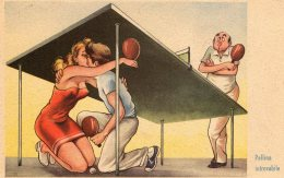 [DC9766] CPA - HUMOR - ILLUSTRATION - PALLINA INTROVABILE - PING PONG - Non Viaggiata - Old Postcard - Humour