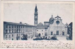 Italie,italia,FLORENCE,FIRENZE,toscana,toscane,TIMBRE FRANCE 1902,piazza E Chiesa Di S Spirito - Firenze (Florence)
