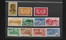 SURINAM 1965 Y.T 409 + 410-411 + 412-415 + 416-419.MNH/** 4 SERIES - Surinam