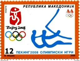 MACEDONIA, 2008, MICHEL 469/472 - OLYMPIC GAMES BEIJING 2008 / SAILING GYMNASTIC TENNIS HORSE RIDING **
