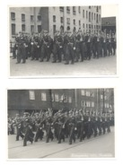 Lot Van 2 Foto's ( 13 X 18 Cm) AMSTERDAM - Koninginnedag 1953 - Militaire - Armée - Défilé (Mi9) - Oorlog, Militair