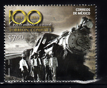 Trein, Train, Locomotive, Eisenbahn: Mexico 2014 Mi Nr 3825