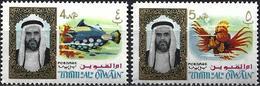 Umm Al-Qiwain 1964 - Fishes : Clown Tiggerfish & Red Lionfish ( Mi 4/5 - YT 4/5 ) MNH**