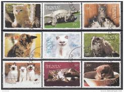 Benin 2003 Felini: GATTI Chats CATS Gatos Serie Completa