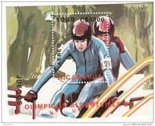 C1187 Nicaragua 1989 XVI Olimpiadi Invernali Albertville Francia Foglietto Perf.